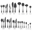 Set of cutlery icons.