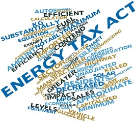 Word cloud for Energy Tax Act