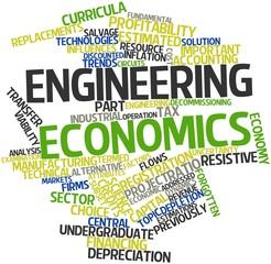 Word cloud for Engineering economics