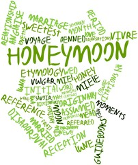 Word cloud for Honeymoon