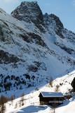baita in alta montagna