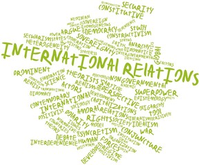 Word cloud for International relations