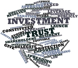 Word cloud for Investment trust