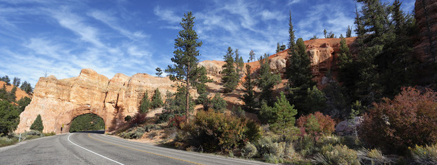 panoramic view of Road to Bryce Canyon
