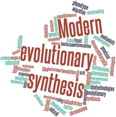 Word cloud for Modern evolutionary synthesis
