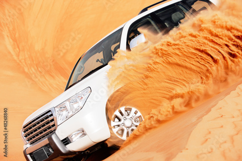 4 by 4 dune bashing is a popular sport of the Arabian desert