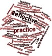 Word cloud for Reflective practice