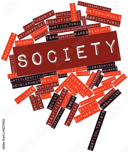 Word cloud for Society