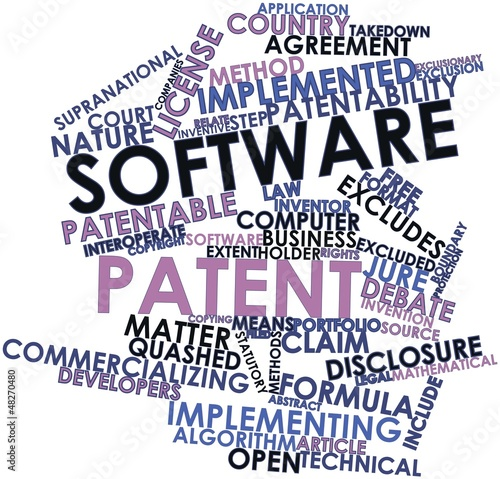 Word cloud for Software patent