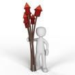 Rakete Blumenstrauß