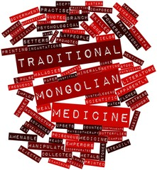 Word cloud for Traditional Mongolian medicine