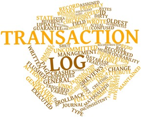 Word cloud for Transaction log