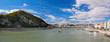 Gellert Hill and Danuber River. Budapest, Hungary.