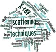 Word cloud for X-ray scattering techniques