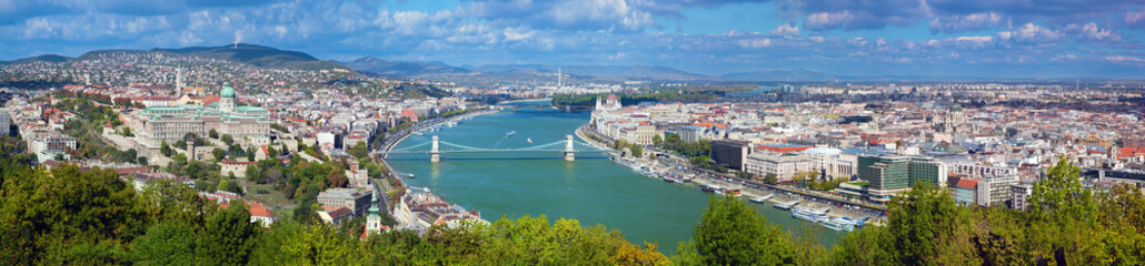 Budapest, Hungary. View from Gellert Hill