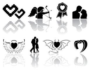 Black Valentines icons
