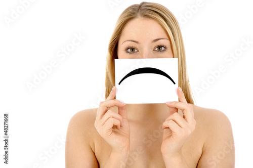 Junge Frau traurig