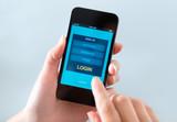 Login form window on mobile phone