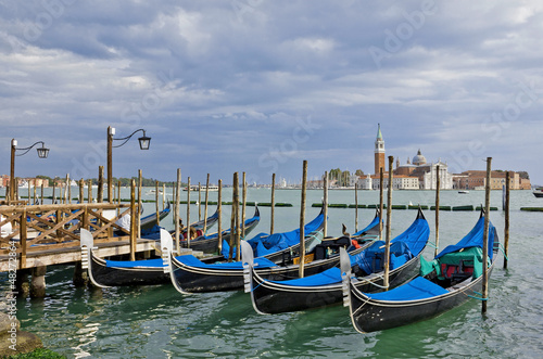 Gondolas near Piazza San Marco in Venice - 48272864