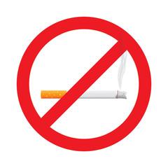 No smoking stop sign symbol, illustration