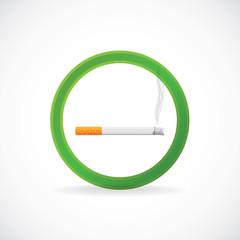 Smoking allowed sign symbol - illustration