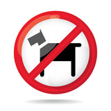 No dogs sign, do not allowed, illustration