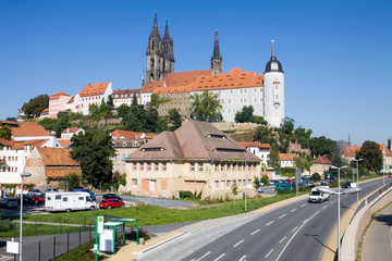 Meissen cityscape with the Albrechtsburg castle