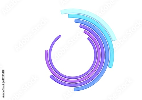 Blue purple circle