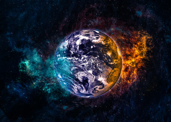 Earth in beautiful space