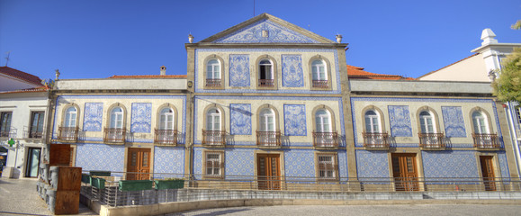A tile decorated house, Aveiro, Portugal