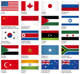 FLAG SET *** International