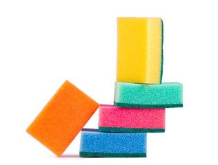 Sponges isolated on white background