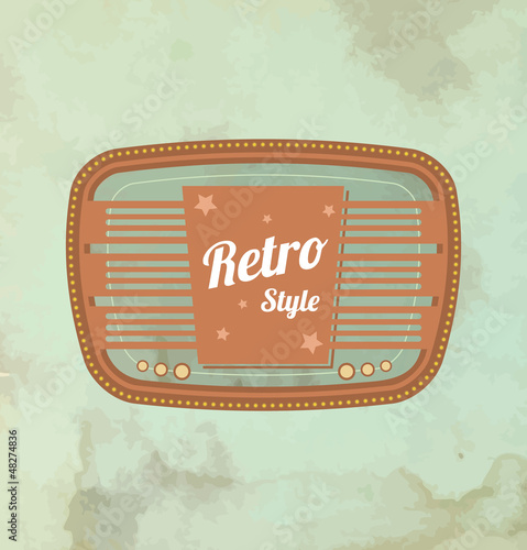 Retro motel sign. Vector