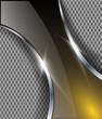 Abstract metallic background, vector design.