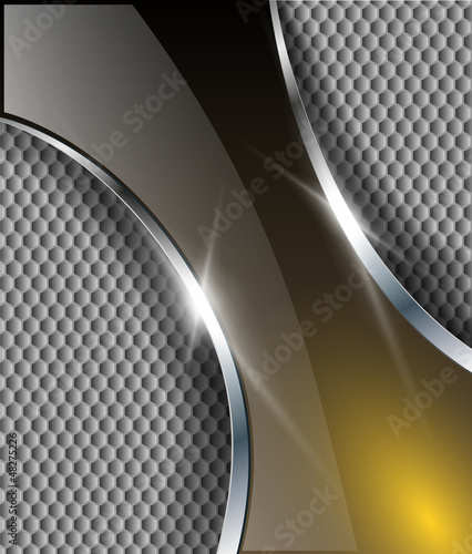 Abstract metallic background, vector design.