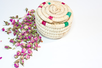 Soap prepared from dried roses