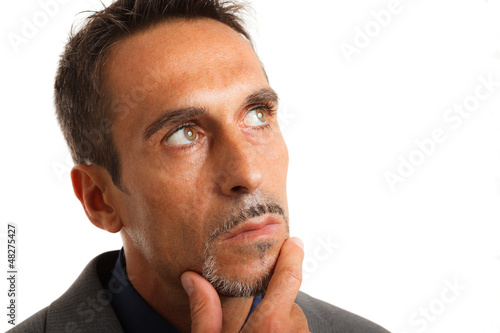 Pensive businessman portrait