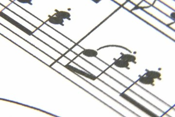 Sheet music rotating