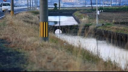 諫早干拓地の用水路