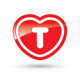 Heart Icon With Capital Letter T