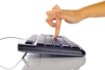 Hand Typing Keyboard