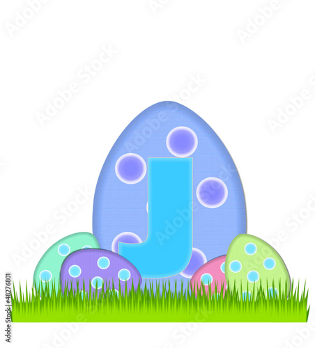 Alphabet Big Egg Hunt J
