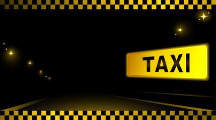 taxi background with car and city light
