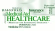 Healthcare medical aid medicaid insurance word tag cloud video