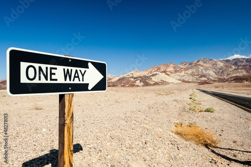 One Way Death Valley