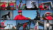 OIL AND GAS WORKERS - MONTAGE