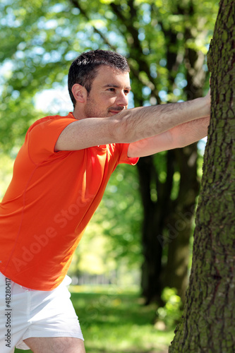 man doing sport