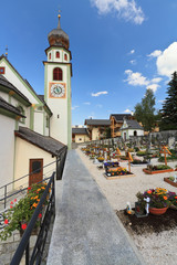 San Cassiano - alpine church and graveyard
