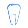Sign of tooth on a white background