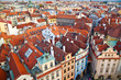 Prague's red roofs